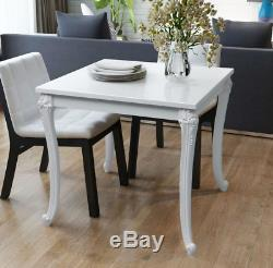 Kitchen Breakfast Table White Shabby Chic Gloss Ornate French Small Dining Room