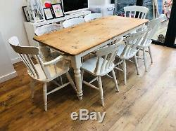 Kitchen Table and 8 Chairs Farmhouse style Country Kitchen ...
