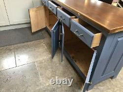 Kitchen island 2 sided breakfast bar 2 sided drawers painted shabby chic 6ft