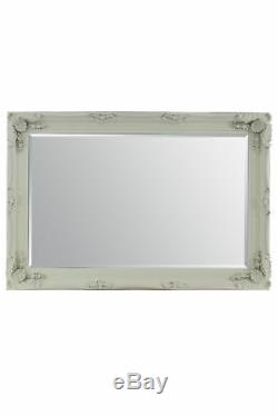 Large Cream Antique Shabby Chic Ornate Wall Mirror 4Ft1 X 6Ft1 123.5cm X 185cm