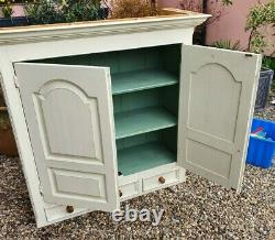 Large Hand painted Farmhouse Shabby Chic Cupboard & Drawers