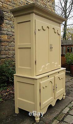 Large Linen Press Kitchen Larder Housekeepers Cupboard Armoire Shabby chic