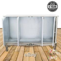 Large Mirrored Glass Sideboard Cabinet 4 Door Cupboard Shabby Chic French Style