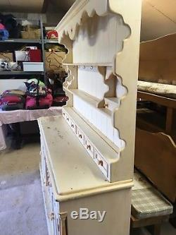 Large Painted Solid Pine Dresser. Shabby chic paint finish. COLLECTION ONLY
