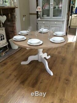 Large Round Dining Table Solid Pine
