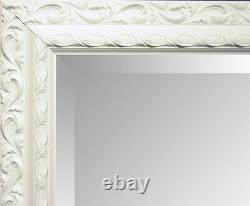 Large Silver Decorative Ornate Carved Overmantle Wall Mirror CHOOSE YOUR SIZE
