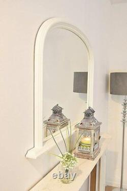 Large WHITE Arched Top Mirror Stunning Save ££s Insured in Transit
