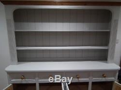 Large Welsh Dresser, solid pine, shabby-chic style, lots of storage, VGC