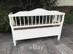 Laura Ashley Bramley Shabby Chic Bench Seat Storage Vintage Style Farmhouse