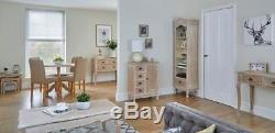 Limed Oak Shabby Chic Country Round Dining Kitchen Table & 4 Matching Chairs