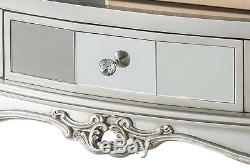 Mirrored Console Hallway Side Table Mirror Small French Style Glass Furniture