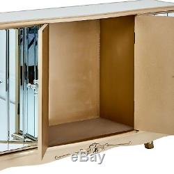 Mirrored Sideboard Credenza Shabby Chic Cupboard Storage Mirror French Style