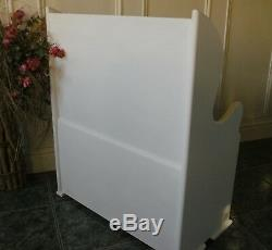 Monks bench seat childrens toy box storage pew settle shabby chic