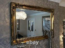 NEW Antique Gold Shabby Chic Framed Ornate Overmantle Mirror CHOOSE YOUR SIZE