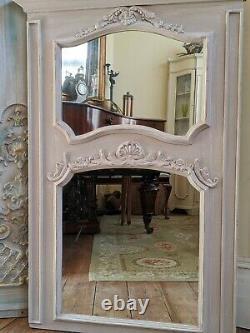NEW French Louis Large Shabby Chic Rustic BEIGE Overmantel Ornate Wall Mirror