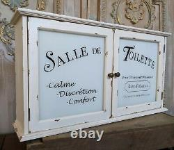 New Cream VINTAGE French Shabby Chic Glass Wall BATH Medicine Cabinet Cupboard