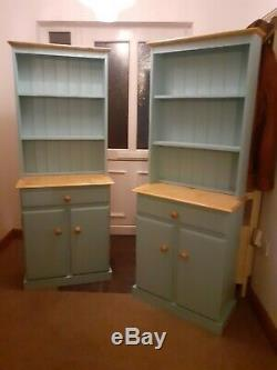 New Pair Of Pine Welsh Dressers Not Shabby Chic F&b All Colours