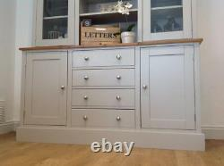 New Solid Oak & Pine 5ft Welsh Dresser Kitchen Unit Cabinet Painted Shabby Chic