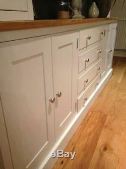 New Solid Oak & Pine 7ft Welsh Dresser Kitchen Unit Cabinet Painted Shabby Chic