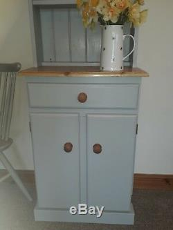 New Solid Pine Narrow Welsh Dresser Not Shabby Chic Farrow & Ball Lamproom Grey