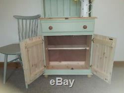 New Solid Pine Welsh Dresser Not Shabby Chic Farrow And Ball Cooking Apple Green