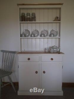 New Solid Pine Welsh Dresser Not Shabby Chic In Farrow & Ball Lime White