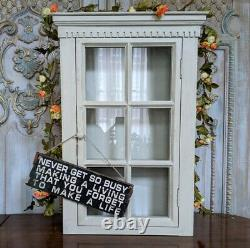New VINTAGE Style French Louis Shabby Chic Glass Wall Display Cabinet Cupboard