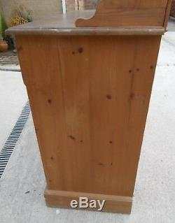 Old Solid Pine Welsh Dresser For Restoration /shabby Chic Upcycling Project