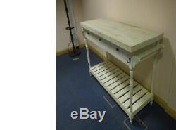 REDUCED Shabby Chic Butchers Kitchen Table, Dining ex-display exhibition prop