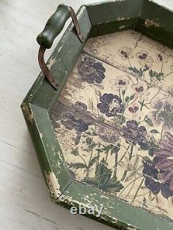 Rachel Ashwell Shabby Chic Couture Wood Floral Tray Large RARE