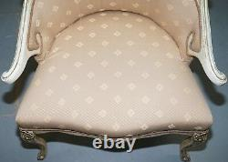 Rare Vintage French Late 19th Century Occasional Armchair Shabby Chic Style