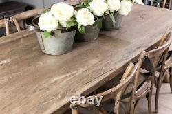 Reclaimed Oak Dining Table Shabby Chic Kitchen Table