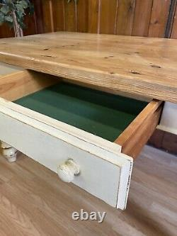 Rustic Painted Vintage Pine Farmhouse Table \ \ Country Kitchen \ shabby Chic