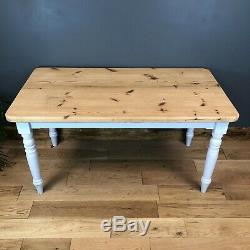 Rustic Rectangle Solid Pine Table Farmhouse Country KItchen Dining Shabby Chic