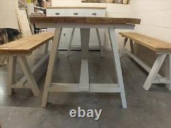 Shabby Chic 6ft A-frame Table Rough Sawn Rustic Bespoke Sizes & Colours