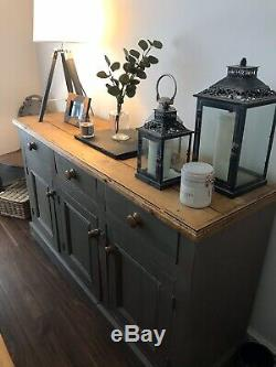 Shabby Chic Antique Pine Sideboard
