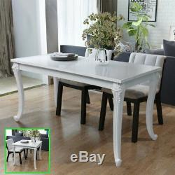 Shabby Chic Dining Cafe Table Breakfast Kitchen MDF Desk High Gloss White