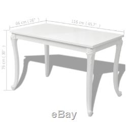 Shabby Chic Dining Cafe Table Breakfast Kitchen MDF Desk High Gloss White NEW