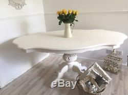 Shabby Chic Dining Table French Louis Table Rococo Antique White Table