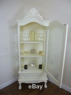 Shabby Chic Display Cabinet In Cream French Glass Display Cabinet