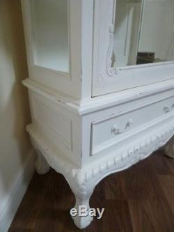 Shabby Chic Display Cabinet In White French Glass Display Cabinet
