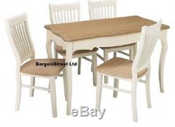 Shabby Chic Furniture Home Kitchen Dinning Room Coffee Table Chairs Cream & Pine