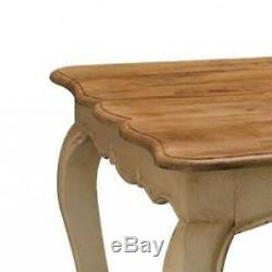 Shabby Chic Large French Cream Ivory Oak Effect Brown Wood Kitchen Dining Table