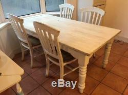 Shabby Chic Laura Ashley Dining Room Table & 6 Chairs Big Upcycling Project