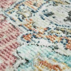Shabby Chic Living Room Rugs Pink Traditional Rug Oriental Carpets Soft Mats New