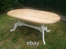 Shabby Chic Oval Pine Table