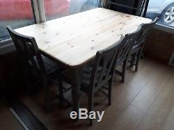 Shabby Chic Rustic Scrub Top Table And Four Chairs Annie sloan