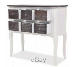 Shabby Chic Small Cabinet Vintage Hallway Console Table Sideboard Buffet Drawers