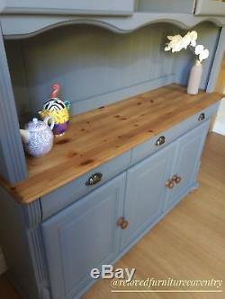 Shabby Chic Solid Pine Welsh Dresser Kitchen Sideboard Painted Frenchic