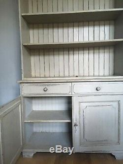 Shabby Chic Solid Welsh Dresser Kitchen Sideboard. Painted Distressed Look